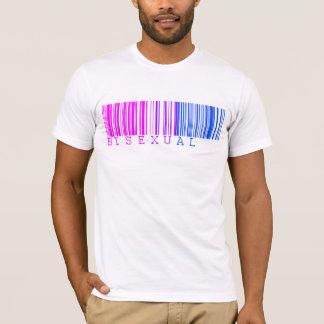 Camisa bissexual do código de barras