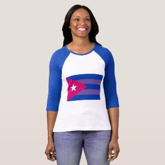 Camisa bissexual do orgulho cubano LGBT do Bi