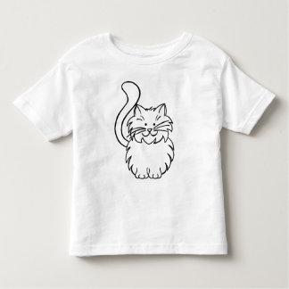 Camisa bonito da criança T do doodle do gatinho