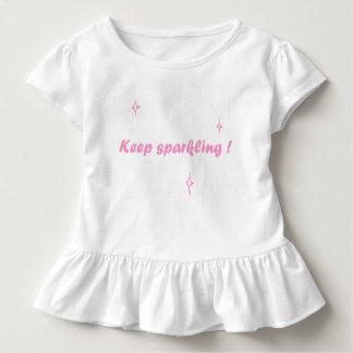 Camisa bonito da menina - Keep que sparkling