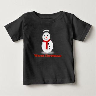 Camisa bonito do bebê do boneco de neve do Natal