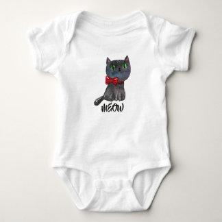 Camisa bonito do gato preto | do Dia das Bruxas