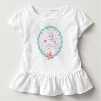 Camisa bonito do plissado da criança da irmã mais