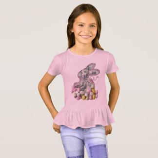 Camisa bonito do plissado da páscoa para meninas