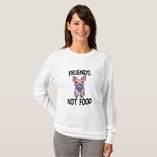 Camisa bonito do porco da comida dos amigos não