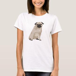 Camisa bonito do Pug T dos desenhos animados