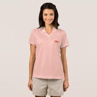 camisa bonito do rosa da mulher do rosa da