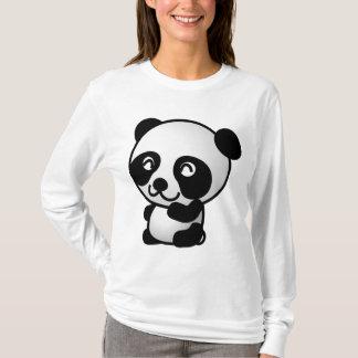 Camisa bonito do urso de panda dos desenhos