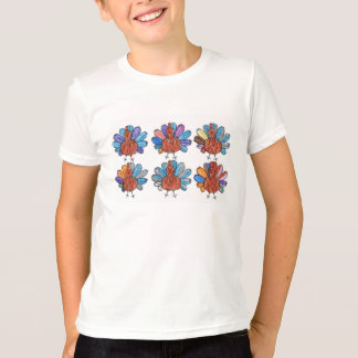 Camisa bonito dos miúdos dos perus do pastel