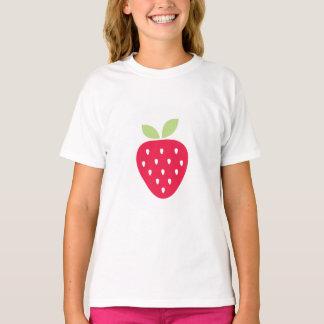 Camisa bonito dos namorados da morango dos miúdos