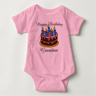 Camisa bonito feita sob encomenda do bebê da avó