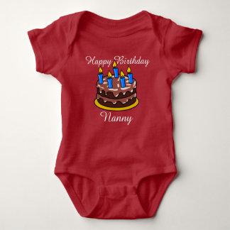 Camisa bonito feita sob encomenda do bebê do