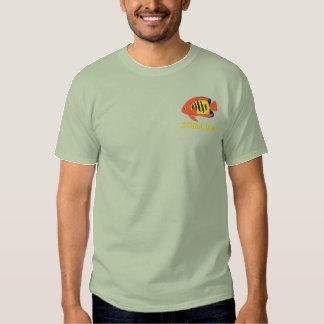 Camisa bordada Angelfish da chama (pólo)
