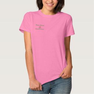 Camisa bordada avó da primeira classe camiseta polo bordada feminina