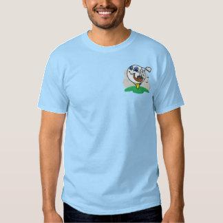 Camisa bordada bola de golfe de fumo da tubulação