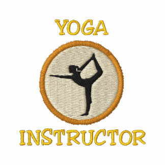 Camisa bordada instrutor da ioga