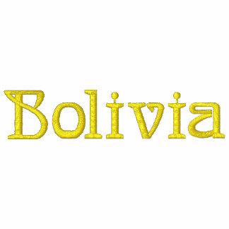 Camisa bordada patriótica do desenhista de BOLÍVIA