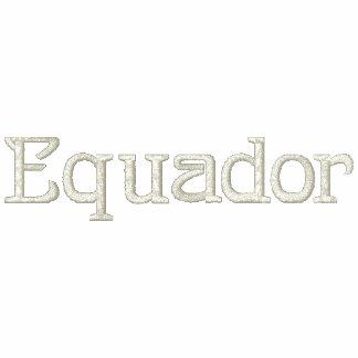 Camisa bordada patriótica do desenhista de EQUADOR