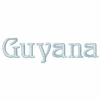 Camisa bordada patriótica do desenhista de GUYANA