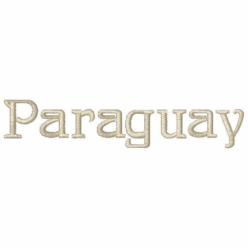 Camisa bordada patriótica do desenhista de PARAGUA