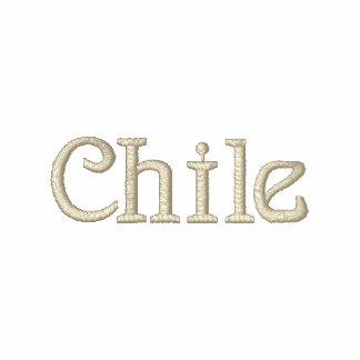 Camisa bordada patriótica do desenhista do CHILE