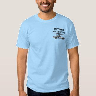 Camisa bordada polícia aposentada