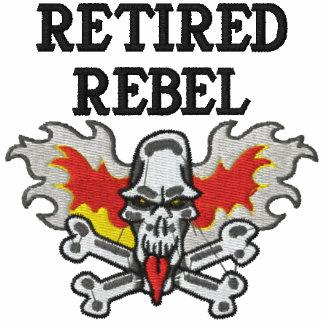 Camisa bordada rebelde aposentada