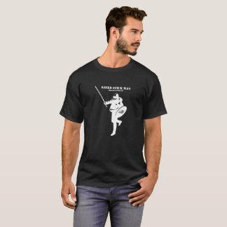 Camisa branca baseada do logotipo do stickman