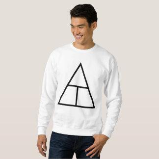 Camisa branca com logotipos pretos