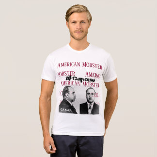 Camisa branca do gangster americano T de Al Capone
