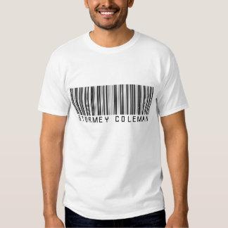 Camisa branca do logotipo de Stormey Coleman Camisetas