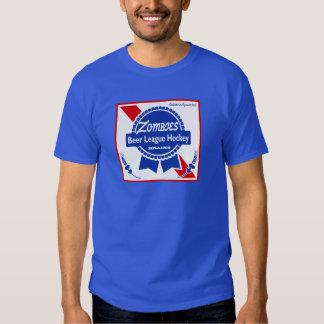 Camisa branca do logotipo do jérsei dos zombis PBR Camiseta