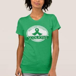 Camisa branca do verde T do apoio da consciência