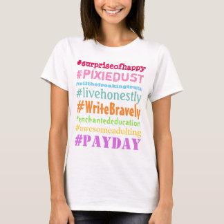 Camisa brava de Hashtag do escritor