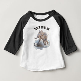 Camisa brincalhão do Raglan do elefante da luva do