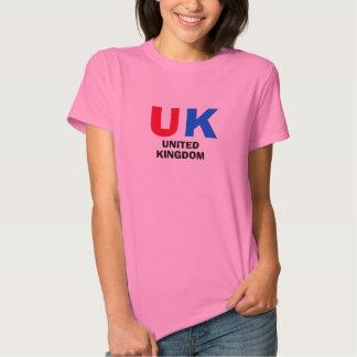 Camisa BRITÂNICA das senhoras de Reino Unido Tshirt