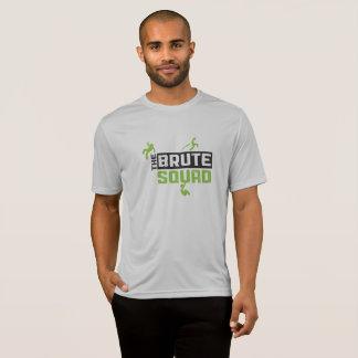 Camisa brutal da prata do concorrente do pelotão
