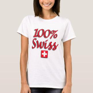 Camisa cabida suíço de 100%