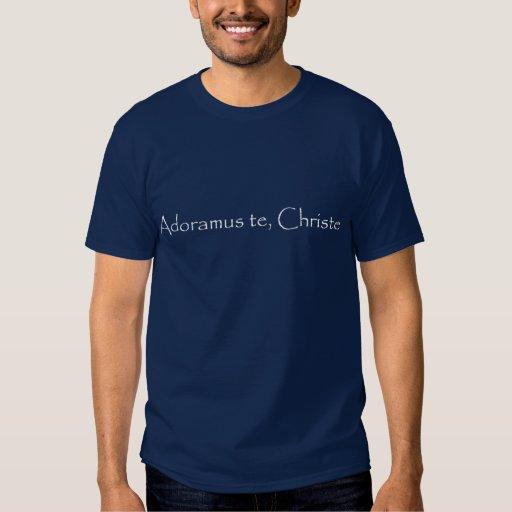 Camisa católica - adoração eucarística camiseta