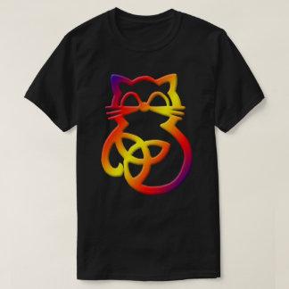 Camisa celta do gato T do nó da trindade do