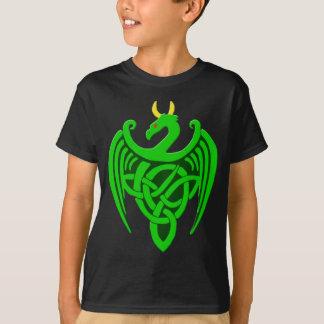 Camisa celta verde da criança T do dragão