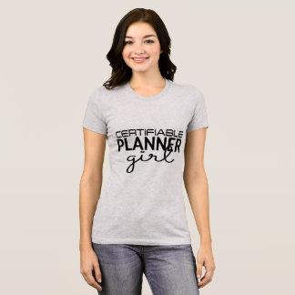 Camisa Certifiable da menina do planejador