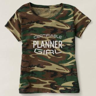 Camisa Certifiable da menina do planejador com