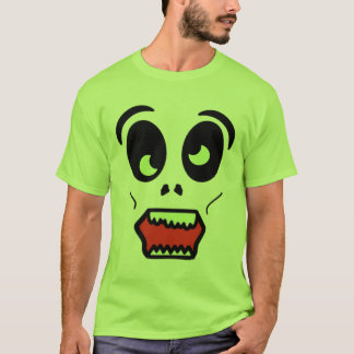 Camisa chocante da cara do zombi