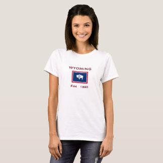 Camisa clássica da bandeira de Wyoming