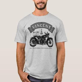 Camisa clássica da motocicleta T da sombra preta