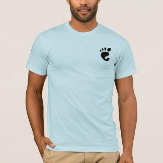 Camisa clássica do logotipo da pegada do GNOMO