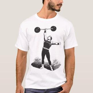 Camisa clássica do Weightlifter do homem forte do