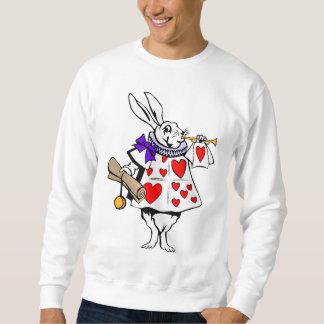 Camisa: Coelho branco de Alice no país das Moletom