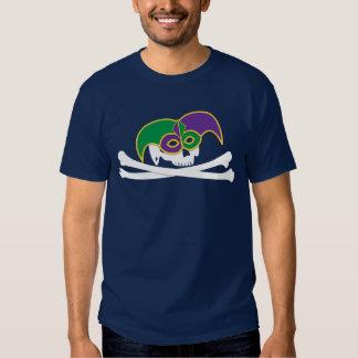 Camisa colonial do crânio do carnaval camisetas